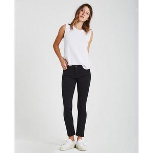 [AG Jeans] The Prima Mid Rise Cigarette in Black